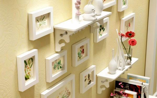 Senikraft Elegant Crafted Wall Selves & Photo Frames set of 12pcs2