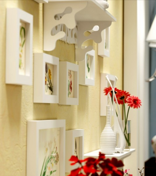 Senikraft Elegant Crafted Wall Selves & Photo Frames set of 12pcs3
