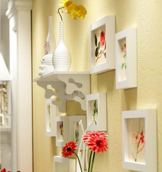 Senikraft Elegant Crafted Wall Selves & Photo Frames set of 12pcs4