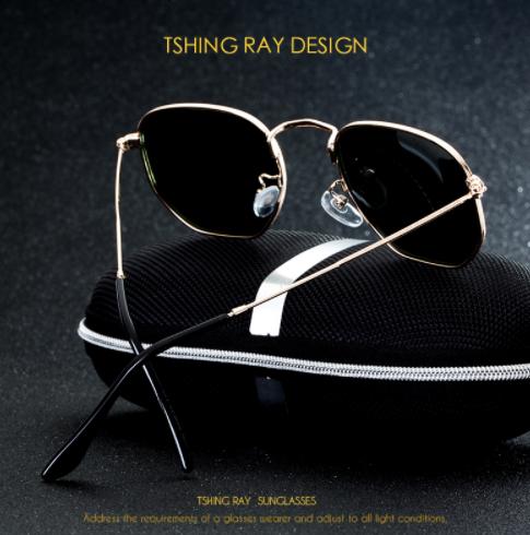 TSHING RAY Hexagonal Polarized Sunglasses3