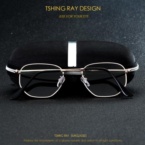 TSHING RAY Hexagonal Polarized Sunglasses4