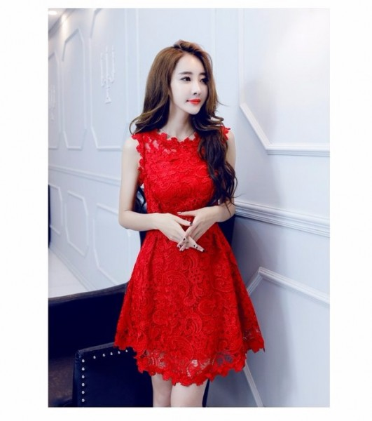 Summer girl Korean version of the elegant and aristocratic small fields breathe sweet slim waist1