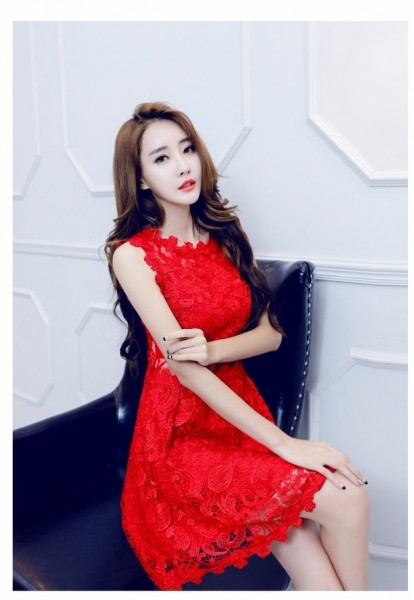 Summer girl Korean version of the elegant and aristocratic small fields breathe sweet slim waist2