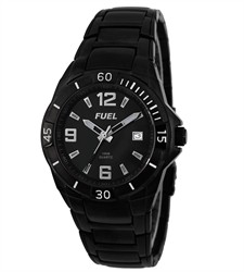 Black Ion Plated & Bracelet Watch1