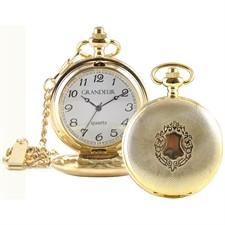 Gold Quartz Pocket Watch1