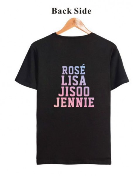 JISOO JENNIE ROSE LISA Casual Street Style Clothes- T-shirt Men Women3