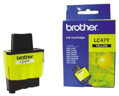 Borther LC47Y  Yellow Ink Cartridge1