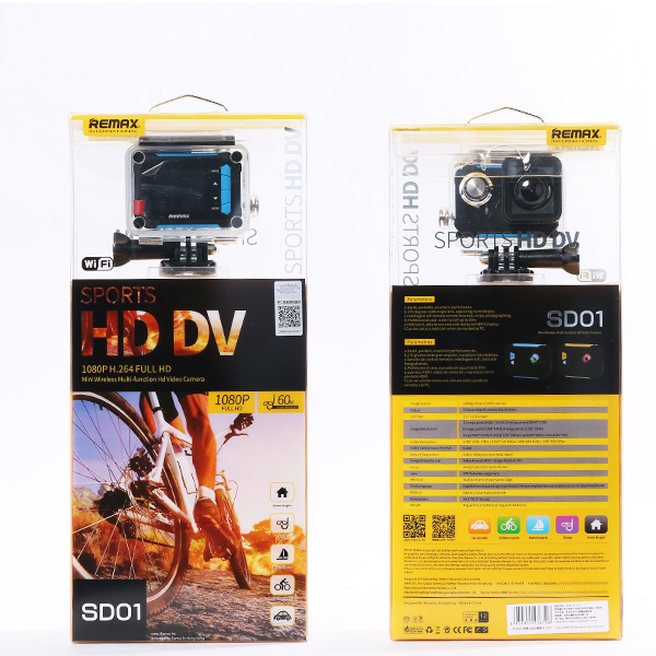 Original Remax SD-01 1080P H.264 FHD Car Mini Wifi Sports DV Video Camera3